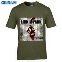 GILDAN Designer T ShirtMen S O Neck Short Funny T Shirt Fashion T Shirts Linkin Park