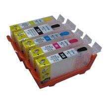 PGI 525 Refillable ink cartridge For Canon iP4850 iX6550 MG5150 MG5250 MG6150 MG8150 MX885 MG5350 MG6250 MG8250 iP4950 printer