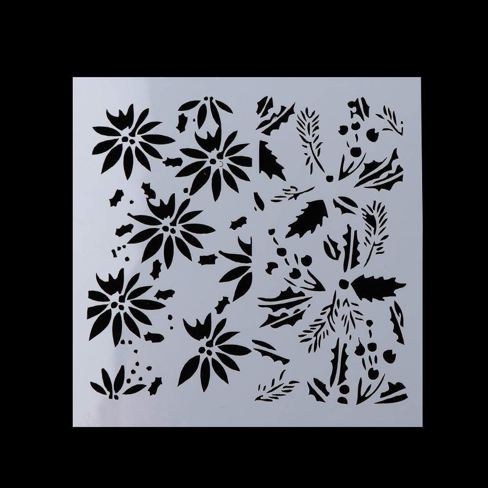 DIY Crafts 12pcsset New Hot Layering Stencils for Walls Painting Scrapbooking Stamp Photo Album Decor Embossing Paper Cards