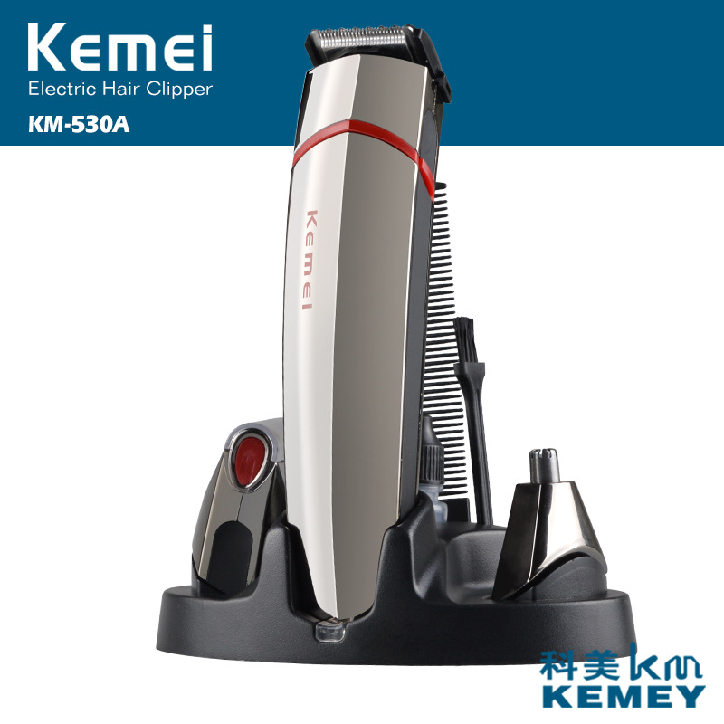 Kemei 3 in 1 hair clipper hair cutting barber hair trimmer electric shaver beard machine nose trimmer men shaving machine kemei 110v 240v kemei hair trimmer rechargeable electric clipper professional barber hair cutting beard shaving machine electr