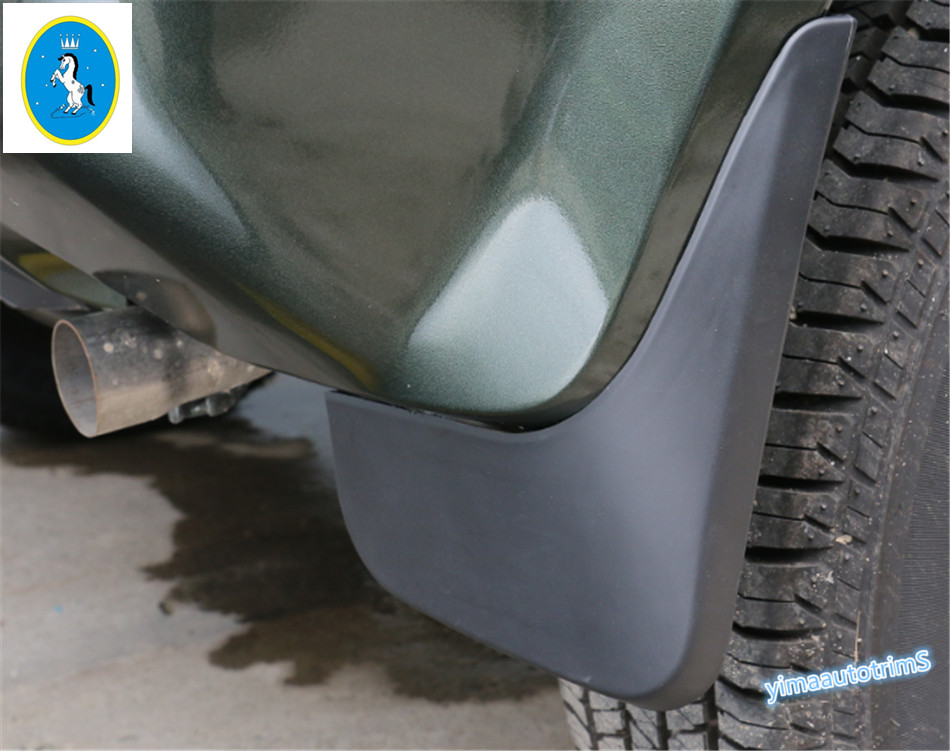 Yimaautotrims For Suzuki Jimny 2012 - 2017 Plastic Front & Rear Mudguards Mud Flap Flaps Splash Guards Fender Protector Cover for ford explorer 2013 2018 plastic more fashion front rear mud guard mudguards splash flaps cover protector trim 4 piece