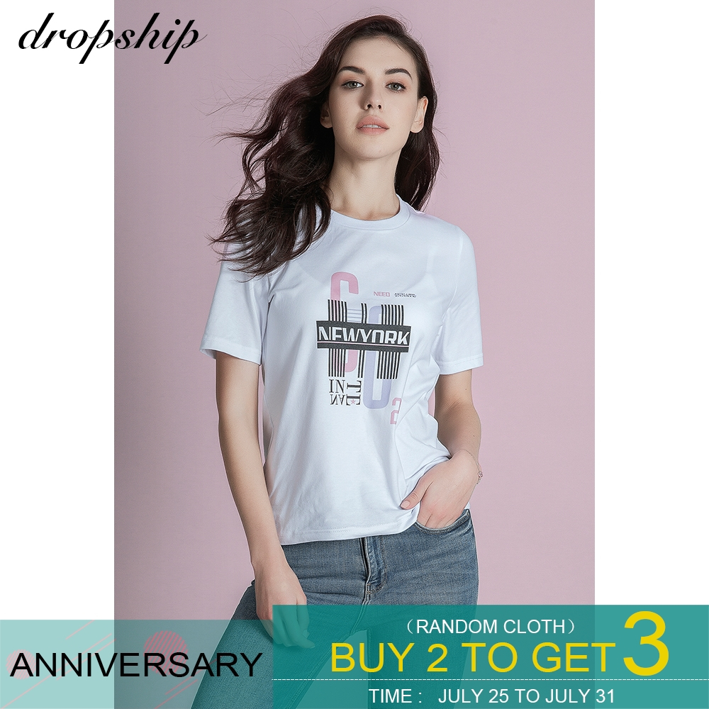 Dropship T Shirt 9 Style Tshirt Women Graphic Tees Streetwear Tops 2019 Shirts Modis Top Womens Tops Losse Summer Short Sleeves