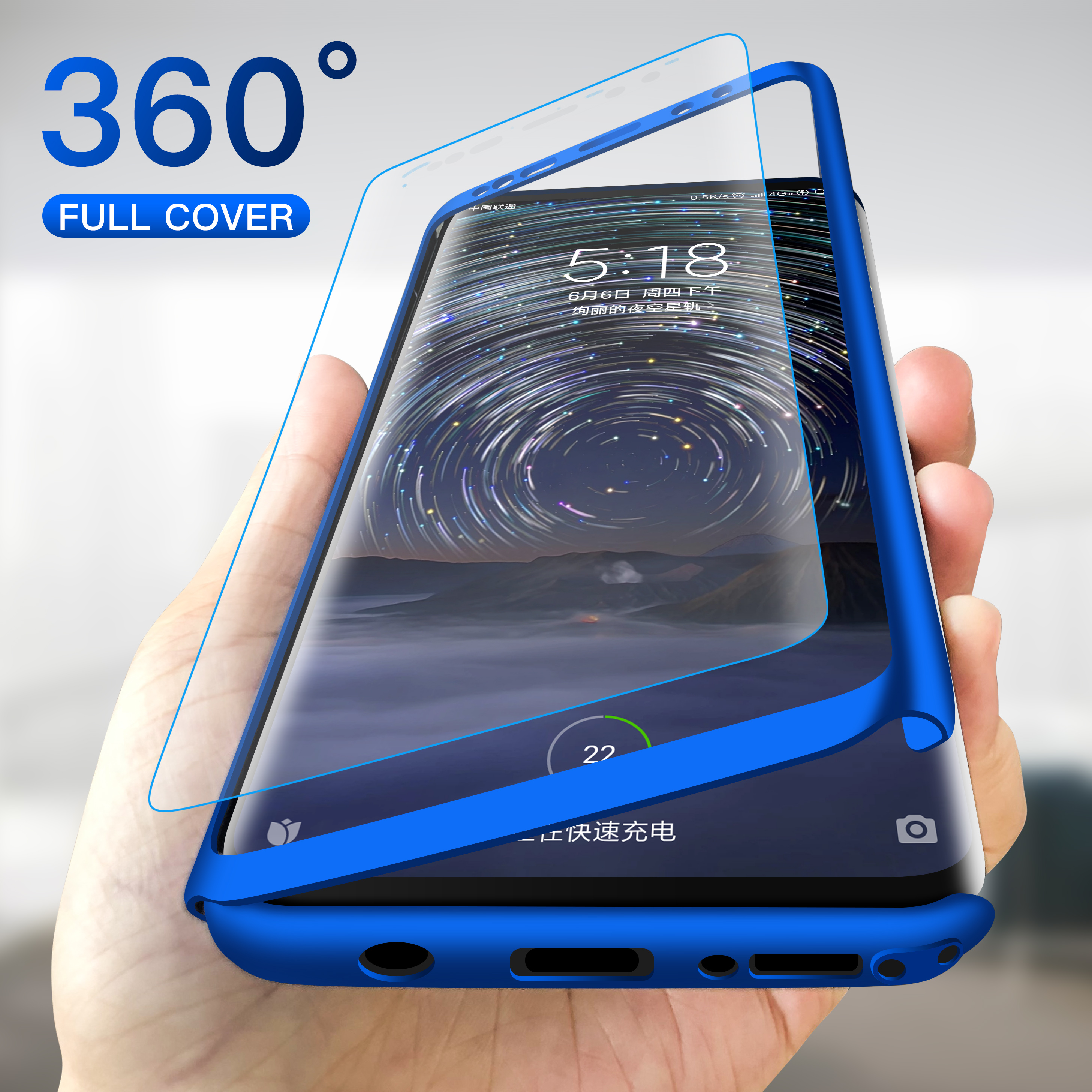 Case for Shockproof S7-Edge Full-Cover S9 Note 8 Samsung Galaxy S10E S10-Plus 360-Degree