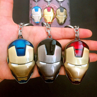 Avengers Infinity War Iron Man Mask Metal Auto Keychain Key Ring Pendant Toy Gift for Adult Children