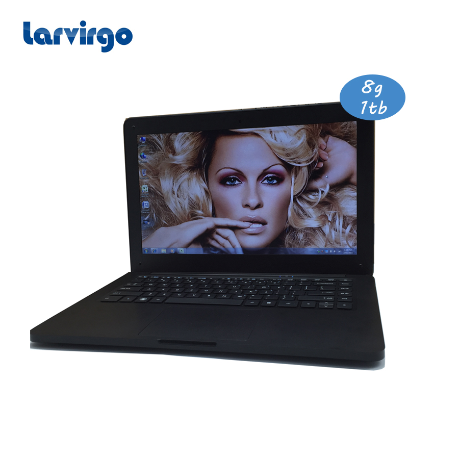8G ram 1TB HDD windows 10 system 13 3 inch laptop built in camera with Expandable