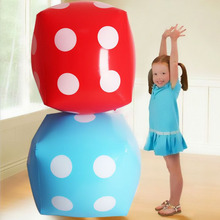 Inflatable Bigger Dice Toy Sports Inflated Cube Siece Children Birthday Party Favor Fun Toys for Kids Outdoor Game Props Gifts