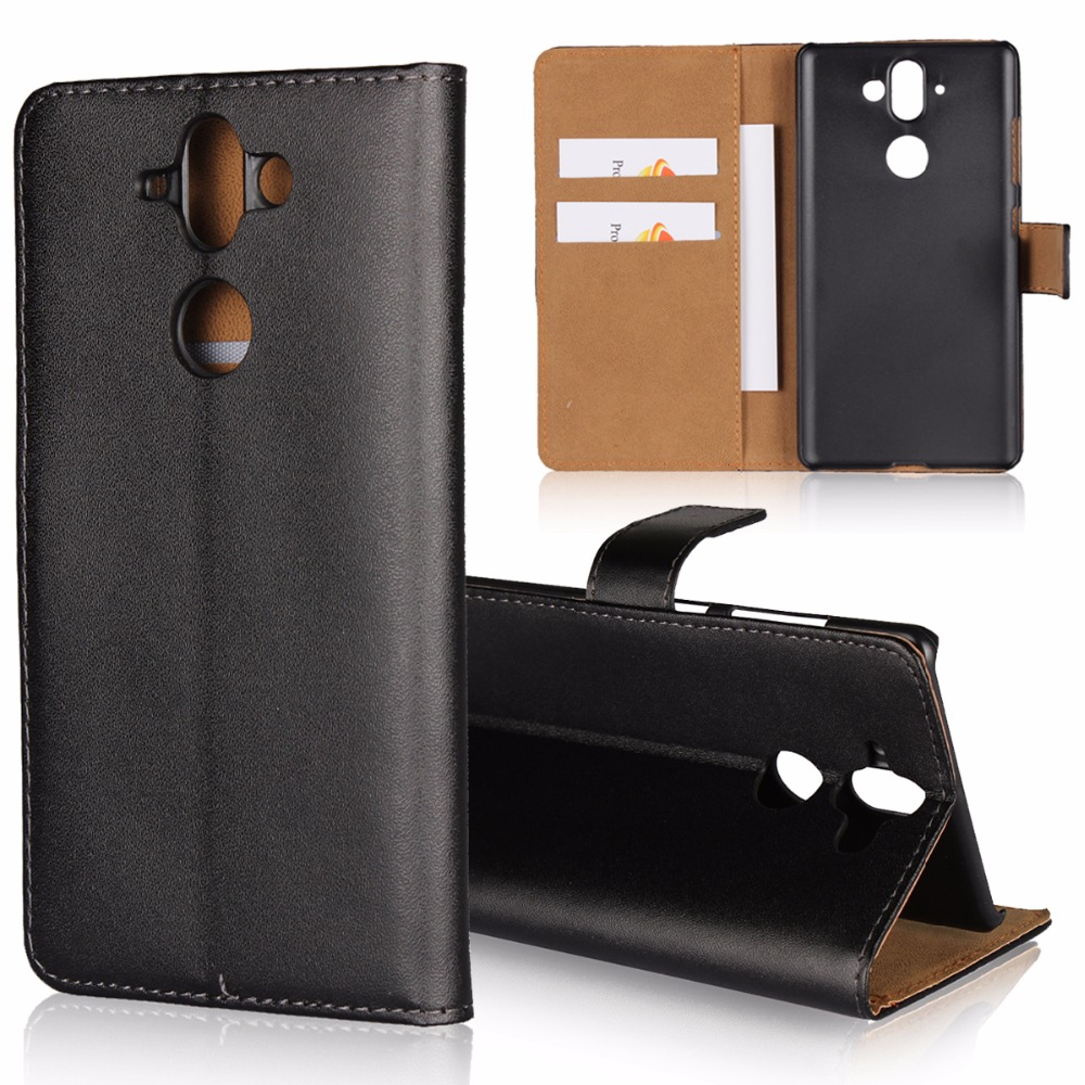 Folio Stand Wallet Genuine Leather Mobile Phone Case For Huawei Honor V9 Play,Google Pixel 2/Pixel 2 XL,For Nokia 8,For Nokia 9
