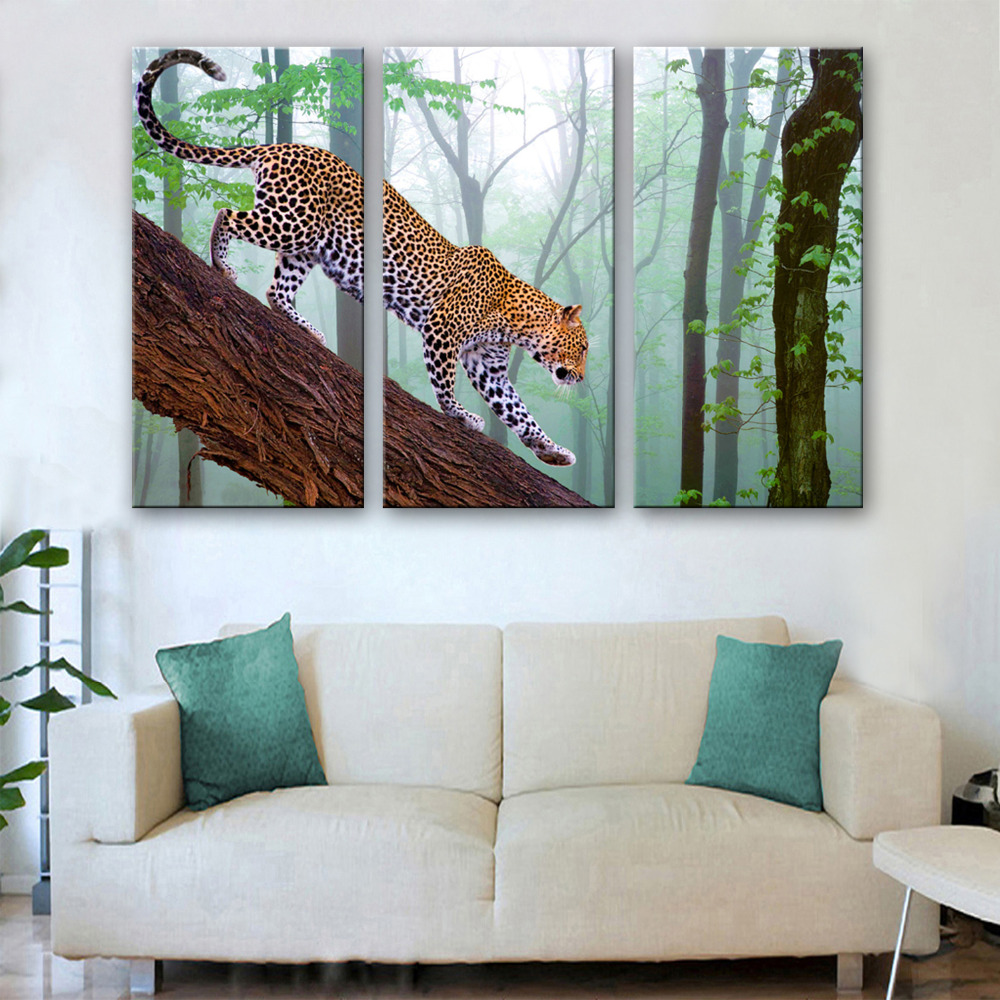 Online Get Cheap Leopard Decorations Aliexpresscom Alibaba Group Living Room Paintings