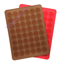 48 hole Round DIY Silicone mat gel pad Macarons pad cake tool silicone mold bakeware 39*29cm 2629