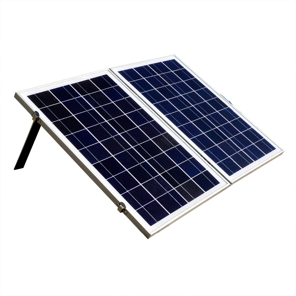 Eco-worthy 50W Foldable Folding Poly Solar Panel Portable Complete Kit for 12V Camping Boat RV 50w 18v poly folding foldable solar panel for 12v battery car rv camping boat solar generators
