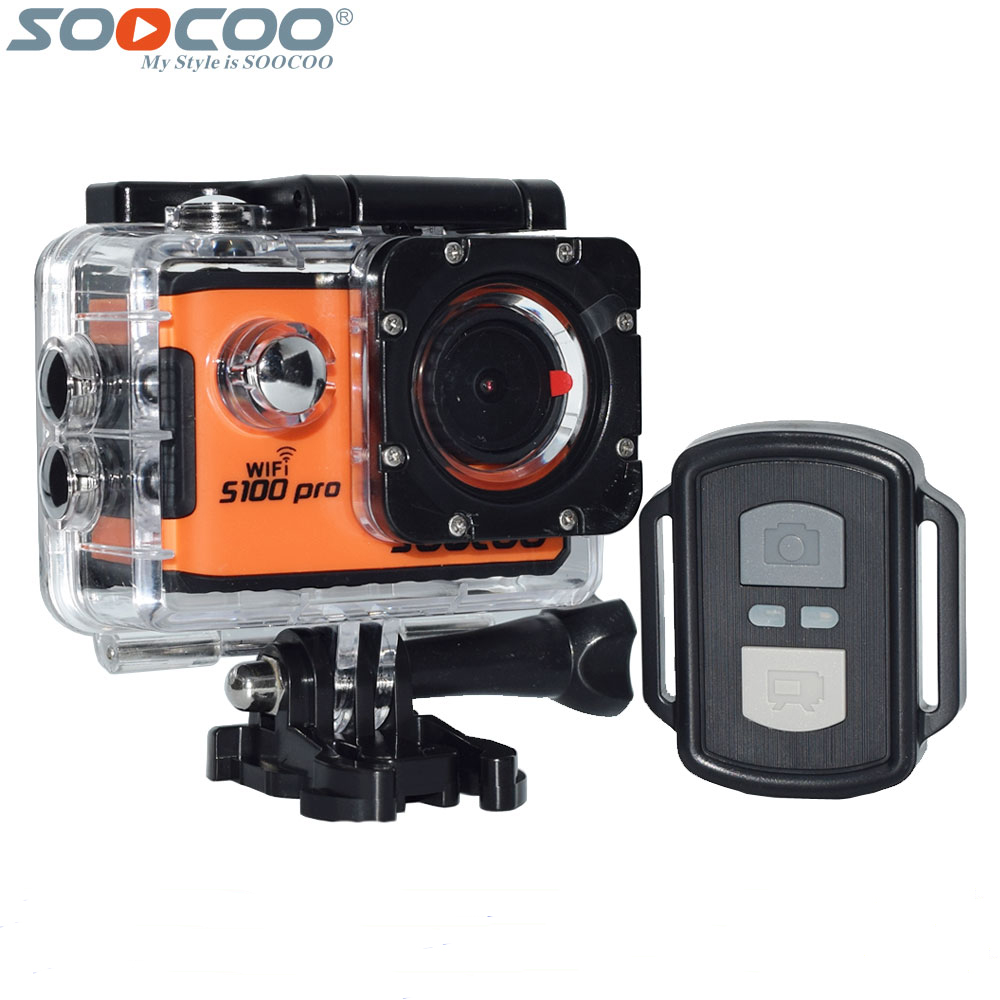 SOOCOO S100 Pro 4K Wifi Action Video Camera 2.0 Touch Screen Voice Control Remote Gyro Waterproof 30m 1080P Full HD Sport DV soocoo cube 360h 4k wifi action camera 360 degree panorama vr camcorder 1080p 60pfs full hd mini sport dv with remote watch