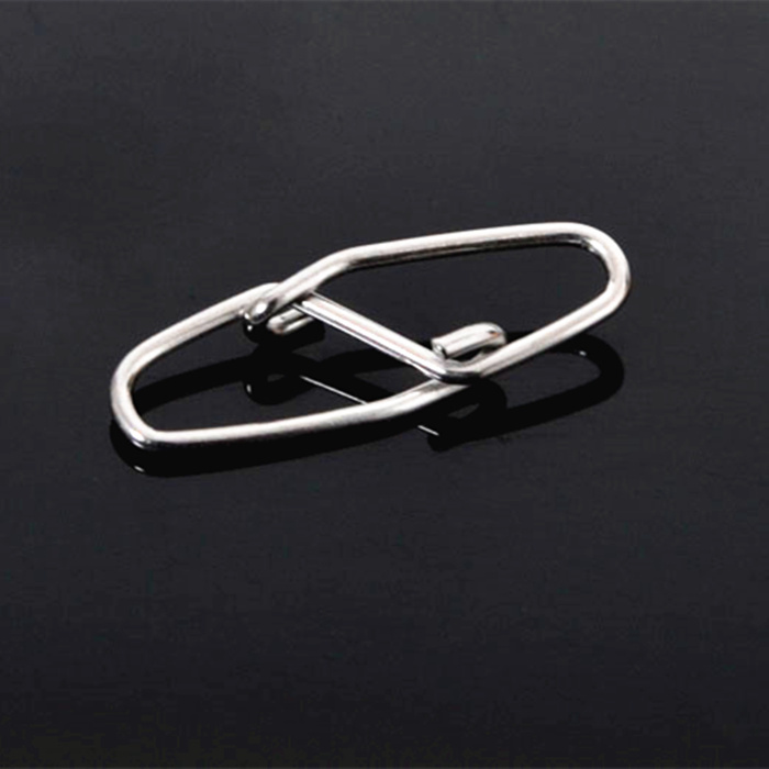 500pcs/ lot of Stainless steel Fishing Tools 5# 34mm 90kg Swivel Rhombus Safety pins Double Buckle -Free Shipping