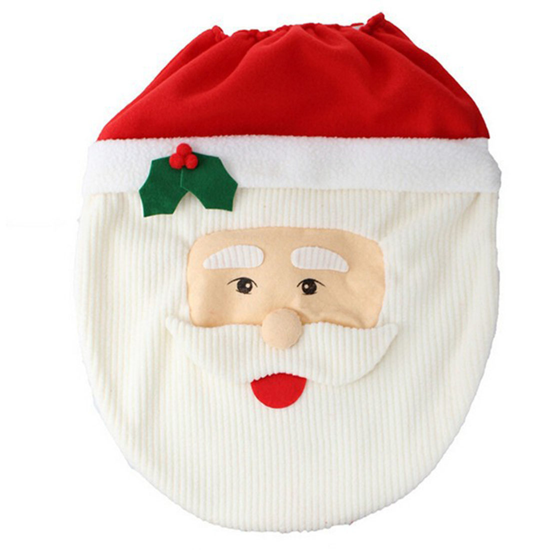 3Pc Set Christmas Santa Claus Bathroom Toilet Seats Cover
