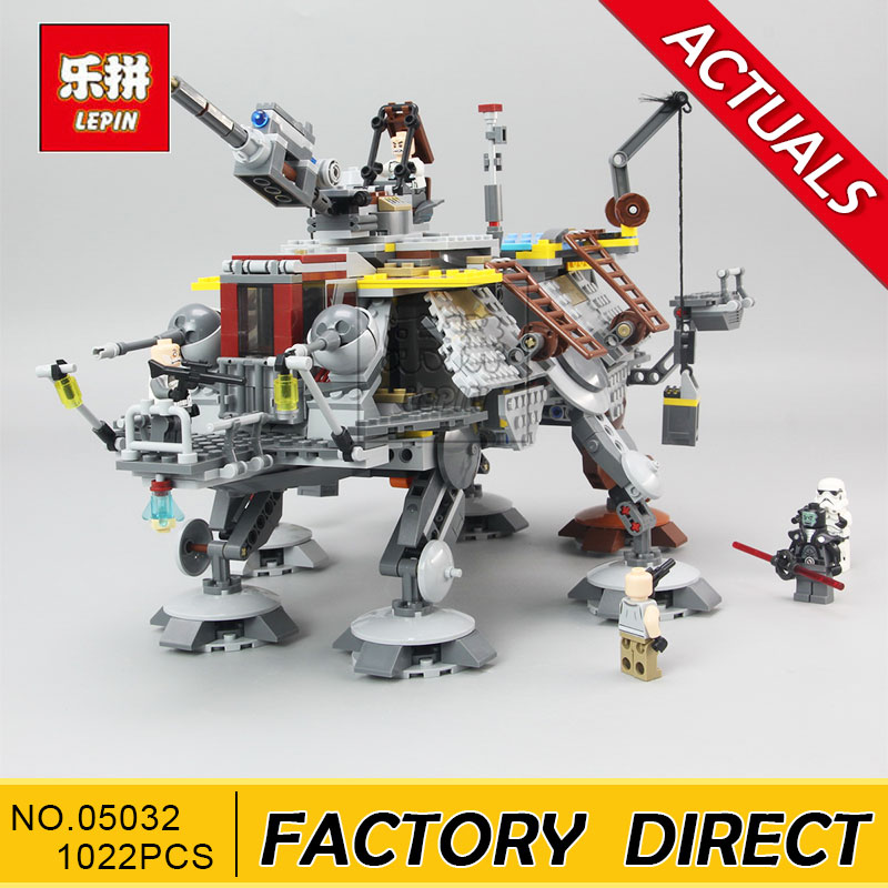LEPIN Star Series War 05032 1022Pcs Captain Rex's AT-TE 75157 Building Blocks Compatible with Star Wars Boys Toys Gift mylb new 499pcs new star wars at dp building blocks toys gift minis rebels animated tv series compatible drop shipping