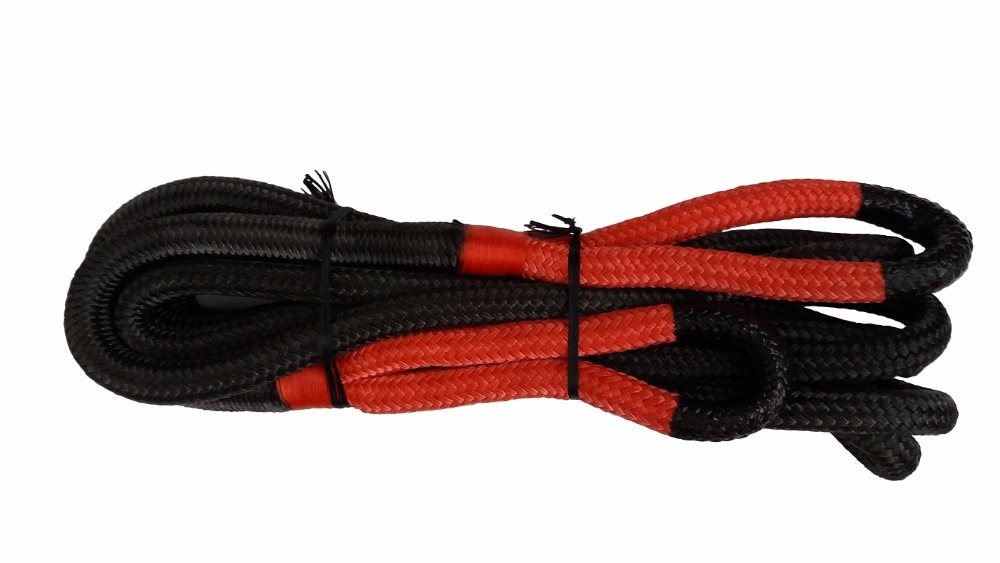 "19mm*9m Kenitic Recovery Rope,3/4""*30ft Double Braided Kinetic Energy Recovery,Synthetic Rope,Winch Cable"