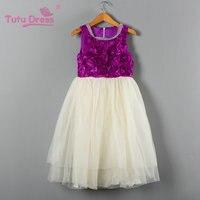 Baby Girls Evening Dress Kids Sleeveless Casual Floral Dresses Children Fancy Wedding Party Prom Frocks Vestidos