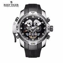 Arrecife Tigre/RT Casual Reloj Para Hombre con Complicado Calendario Perpetuo Acero Dial Grande Reloj Mecánico RGA3503