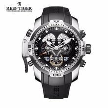 Arrecife Tigre/RT Sport Reloj Para Hombre con Complicado Calendario Perpetuo Acero Dial Grande Reloj Mecánico RGA3503