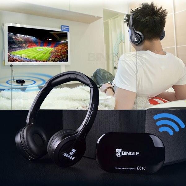 2019 Bingle B616 Drahtlose 2,4g Kopfhörer Ergonomische Headset Mit Fm Für Pc-tv-cellphon