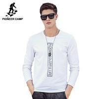 Pioneer Camp 2016 Spring Autumn Men Long Sleeve Tshirt Fashion Brand Men Long Sleeved T Shirt