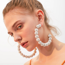 8cm*9cm C type earrings inlay Artificial rhinestone Ball design Shiny hoop earrings for elegant women dress decoration jewelry цена