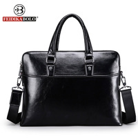 Men Genuine Leather Briefcase Bags Business Laptop Tote Bag Men S Crossbody Shoulder Bag Men S