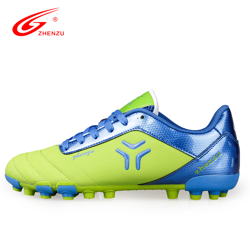 Professionnel Dentelle-Up Football Chaussures Respirant Intérieur Longues Pointes (AG) Adultes Formateurs de Football Bottes Anti-Glissante hommes Sneakers