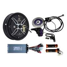 QS 10 дюймов в-Электрический мотор эпицентра деятельности колеса 48v 1000 W электрический скутер конверсионный Наборы с 1000 ватт Скорость контроллер, задние дисковые тормоза дроссельной заслонки