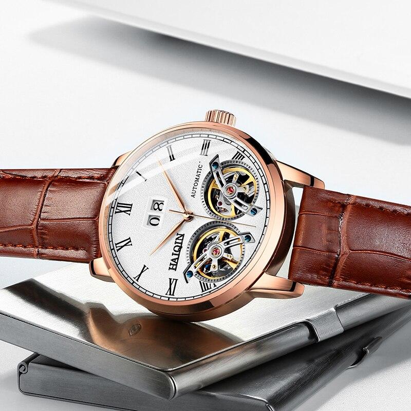 HAIQIN heren Horloges 2019 Nieuwe Luxe Merk Mode/Sport/Machines/Automatische/Waterdicht/Lederen /horloge Mannen-in Mechanische Horloges van Horloges op  Groep 3