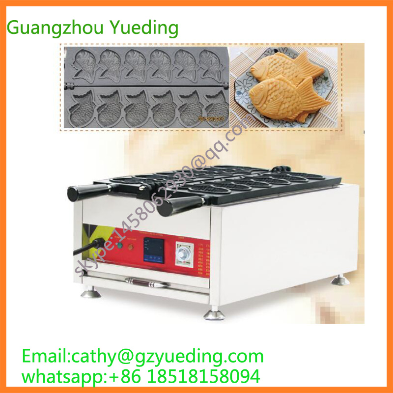 Fish shape Taiyaki machine / Taiyaki Making Machine / taiyaki waffle maker machine with factory price factory price 4mm marking machine pin with copper cover