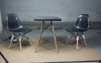 Глянцевая поверхность из углеродного волокна журнальный столик с деревянными ножками Fibre квадратный стол универсальный фитинг мебель аксе