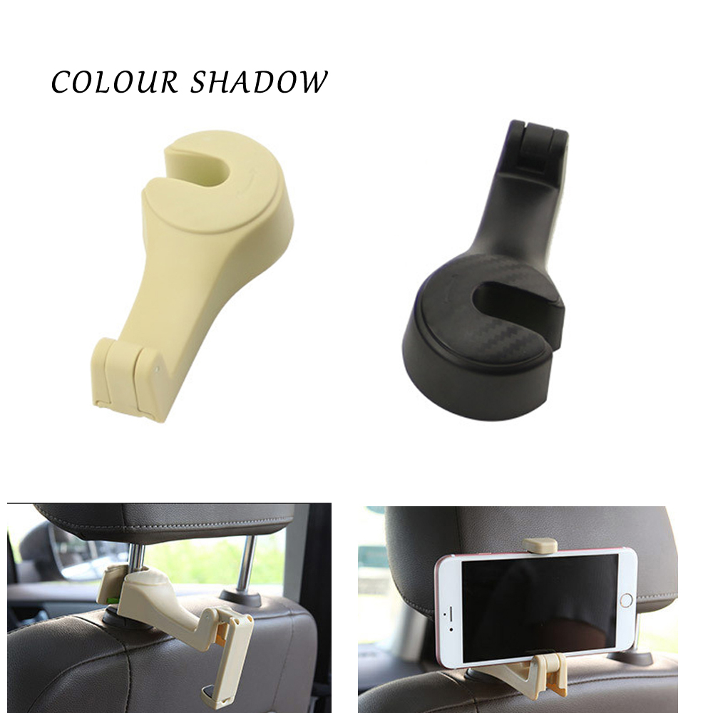 Colour Shadow Auto Car Holder Car Stand Phone Seat Headrest Hanger Hooks  Clamps Support Car Phone Car Interior Accessories