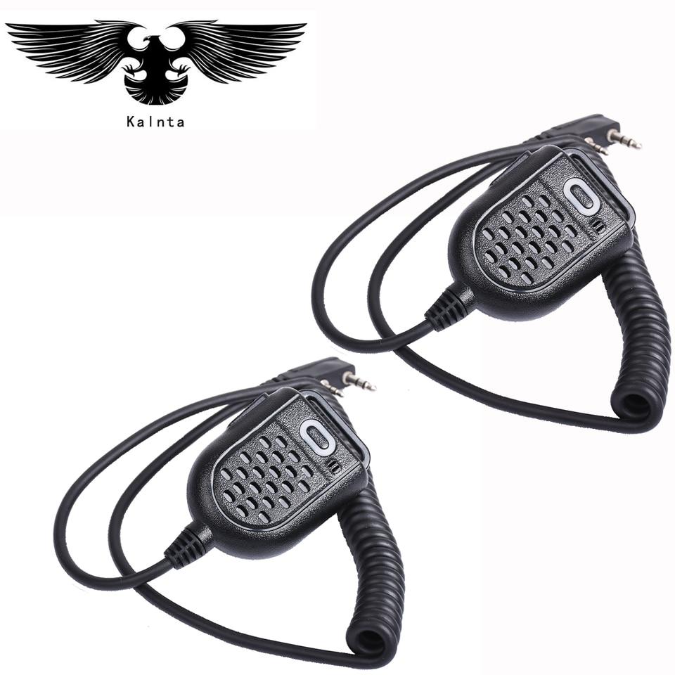 2 pz Mini PTT Speaker Mic per BAOFENG UV-5R Bf-Retevis H777 RT3 TYT PUXING QUSHENG microfono Ham Radio Walkie Talkie