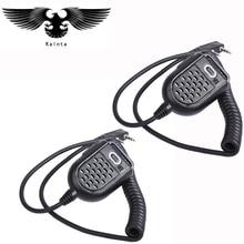 2 шт. мини PTT Динамик микрофон на BAOFENG UV-5R BF-888s Retevis H777 RT3 TYT PUXING QUSHENG микрофон радиолюбителей портативной рации