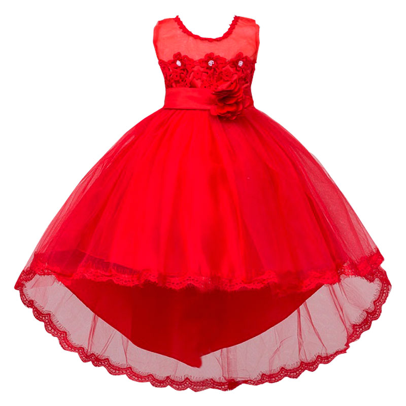 Hot Summer Flower Girls Dress For Wedding And Party Infant Princess Girl Dresses Toddler Costume Baby Kids Girls Clothes summer flower girl wedding dress toddler floral kids clothes lace birthday party graduation gown prom dresses girls baby costume