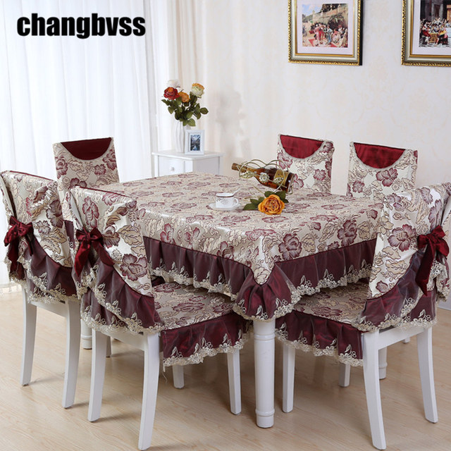 Delicacy Red Style Table Cloth Chinese Embroidery Designs Tablecloths For  Weddings 9pcs/set Dining Table