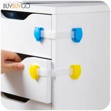 10pcs / lot младенца шкафа ящика шкафа замка шкафа двери холодильника безопасности замков защиты для детей детей двери ящик замок