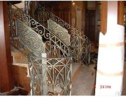 Poręcz metalowa systemów biały poręcz metalowa żeliwa balustrady na sprzedaż