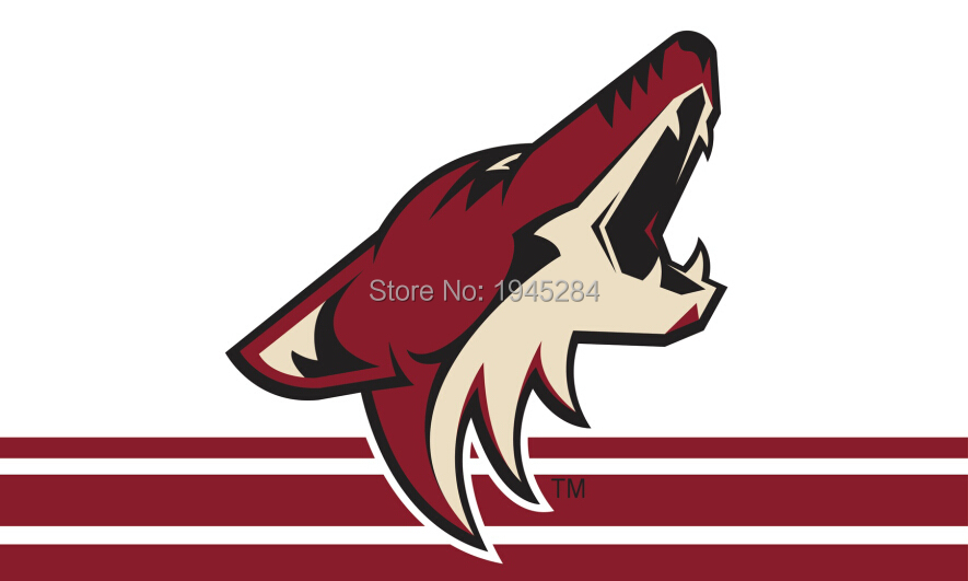 Arizona Coyotes Flag Banner New 3x5ft 90x150cm Polyester NHL 9670, free shipping