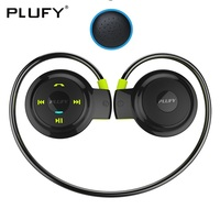 PLUFY Sports Bluetooth Headset Neckband CSR4 Wireless Headphones Stereo Earphones With Mic Skin Earmuffs Auriculares Inalambrico