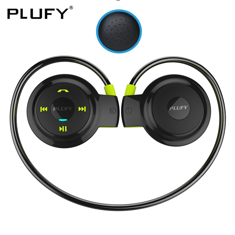 PLUFY Sports Bluetooth Headset Neckband CSR4 Wireless Headphones Stereo Earphones with Mic Skin Earmuffs Auriculares Inalambrico picun p3 hifi headphones bluetooth v4 1 wireless sports earphones stereo with mic for apple ipod asus ipads nano airpods itouch4