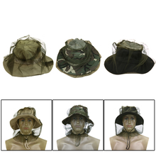 Travel Outdoor Camping Protector Anti Mosquito Bug Insect Mesh Hat Head Face Protect Net Cover Boonie Hat Fishing Caps