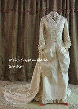 Custom Made IMPERIAL IVORY Victorian WEDDING GOWN/Stage Dress/Period&Bridal Dress/Event Dress