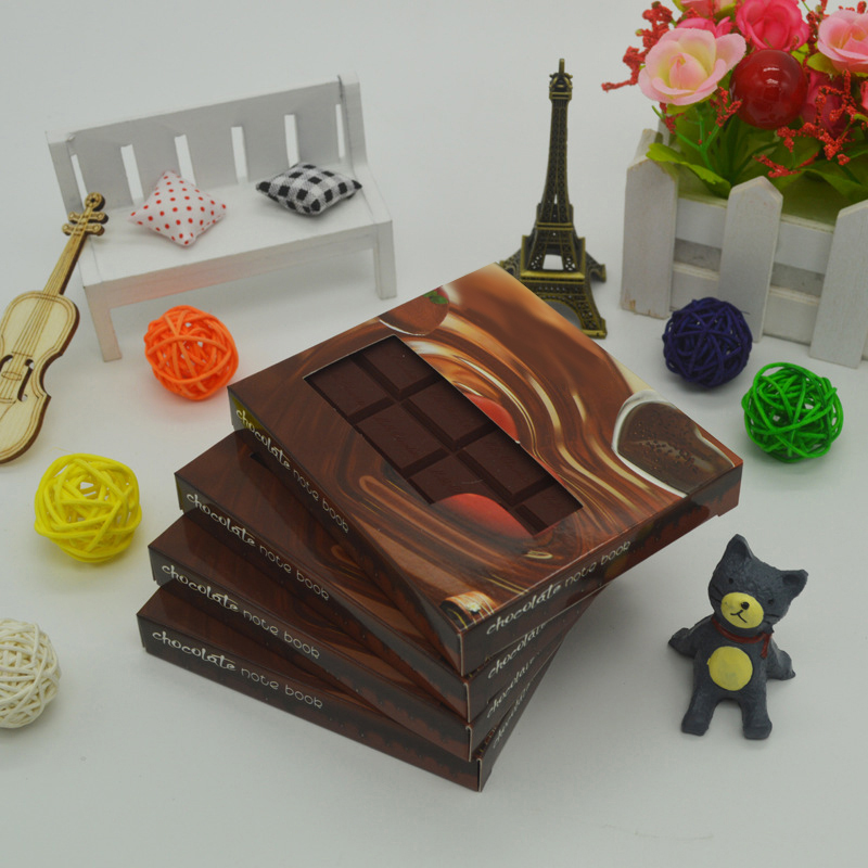 1Pcs Chocolate Shape Convenient Stationery Notebook Individualized Memo Pad Diy Cover Notepad Student Stationery School Supplies
