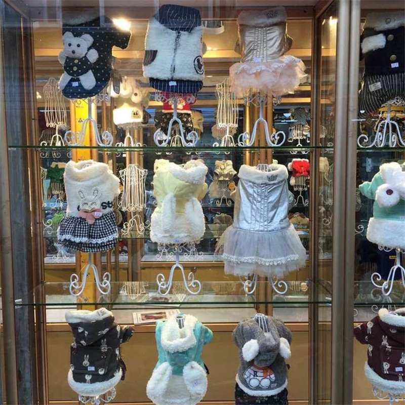 Fashionable Metal Pet Dog Clothes Display Stand Attractive Dog Clothes Hangers Mannequins Model For Pet Shop Dog Accessories