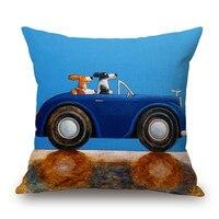 Vintage European Car Print Cushion Cover 45x45cm Home Sofa Seat Cushion Car Covers Decorative Throw Pillow