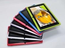 Tableta de 7 pulgadas de la tableta de Allwinner A33 Quad Core tablet pc Android 4.4 Q88 512 MB/4 GB 1024*600 2300 mAh wifi linterna envío libre #