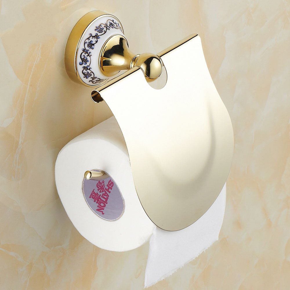 Roll Toilet Paper Holder Continental Antique Gold Bathroom Box Tissue New   toilet paper holder toilet paper black of toilet paper all copper toilet tissue box antique toilet paper basket american top hand cartons