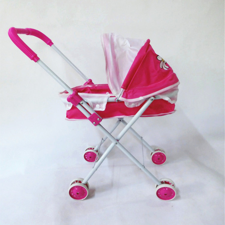 free shopping toys trolley double-pole infant doll toddler stroller set juguetes sylvanian families Simulation toy trolley