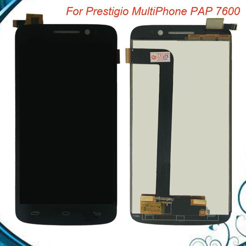 6 pulgadas para prestigio MultiPhone PAP 7600 Duo Pap7600 pap7600duo pantalla LCD con pantalla táctil digitalizador Asamblea